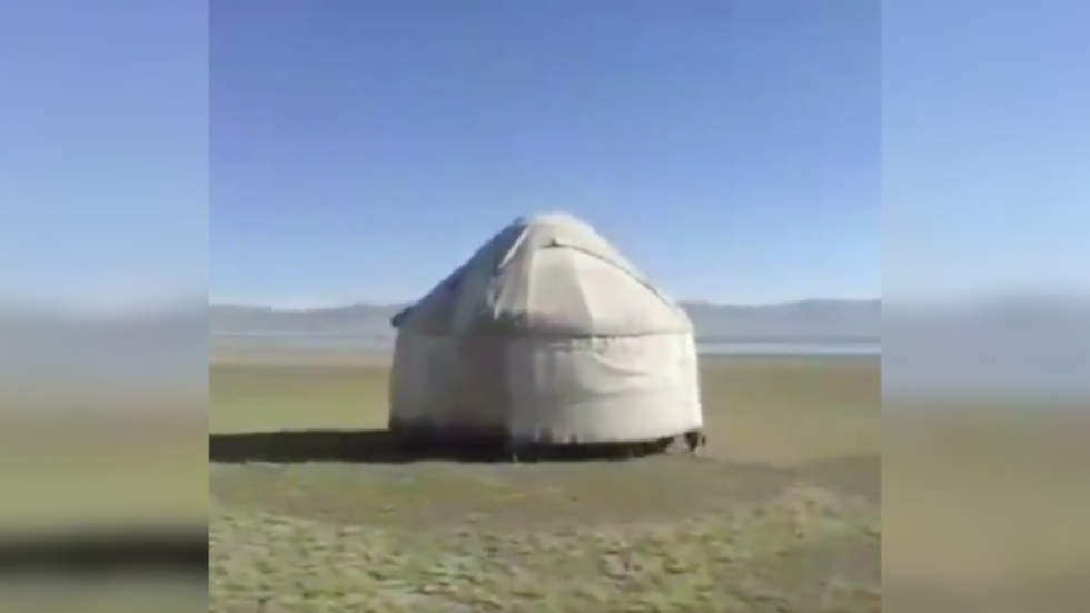 If we have to #StayAtHome, we'll take the house with us! Defiant Kyrgyz say with viral VIDEO
