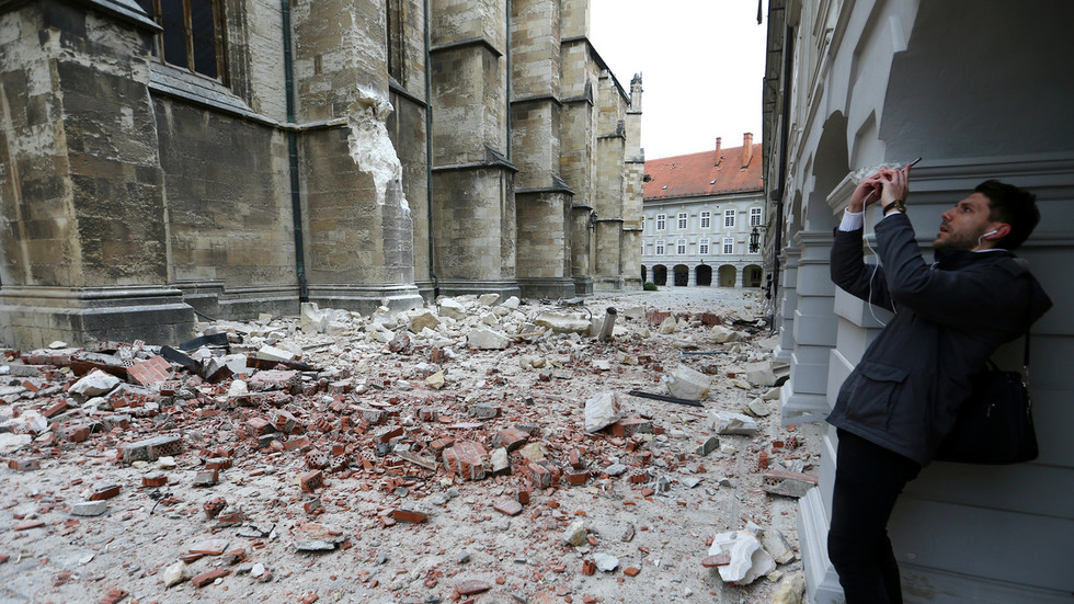 Magnitude 5.3 earthquake hits largest city and capital of Croatia, damages buildings and iconic cathedral (PHOTOS)
