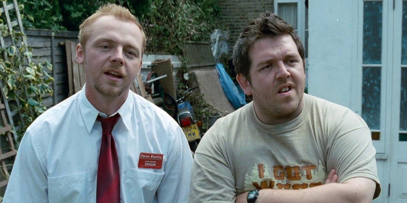 Simon Pegg & Nick Frost Recreate Shaun of the Lifeless Scene For Coronavirus Pandemic
