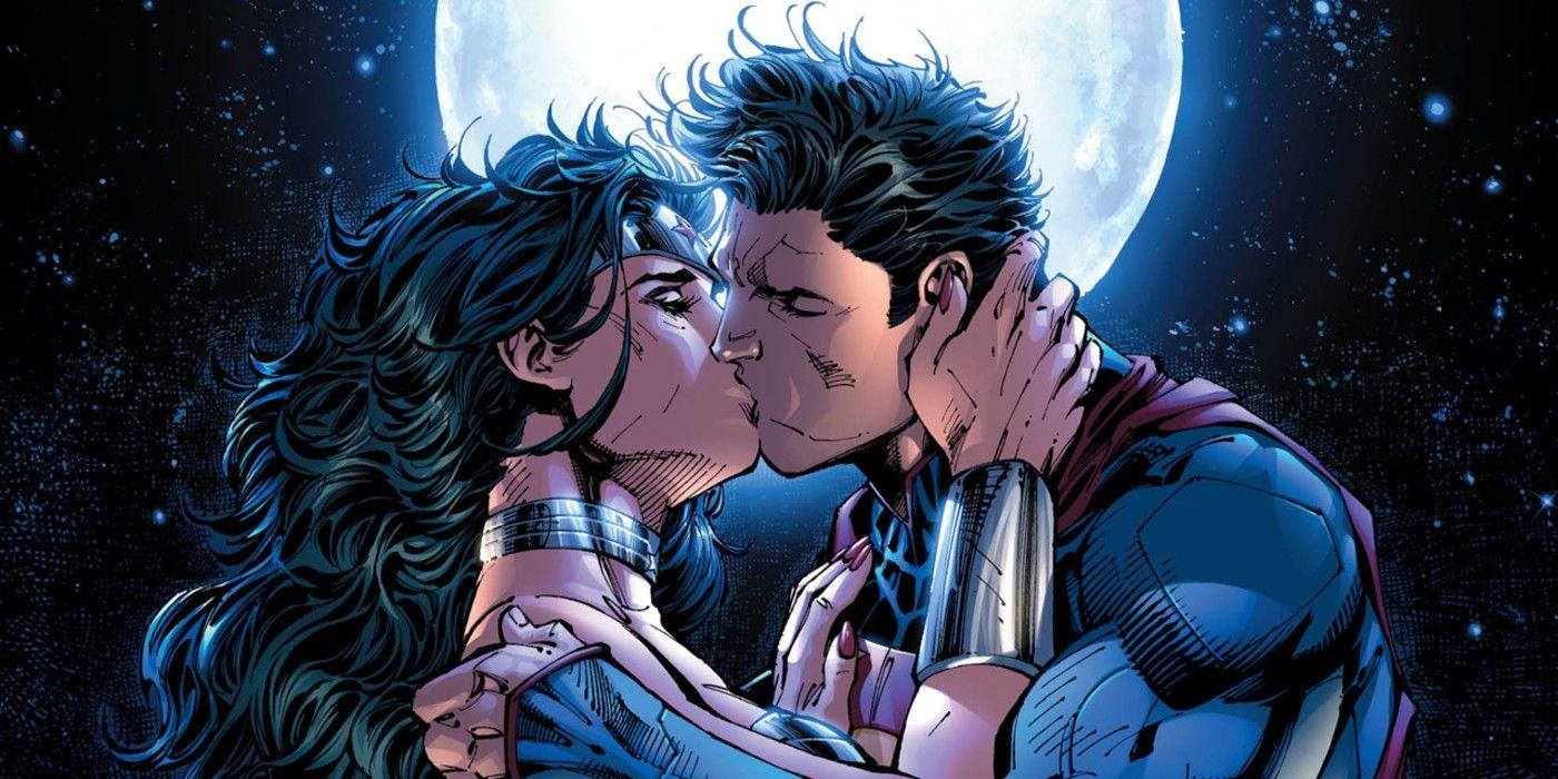 DCEU Superman & Marvel Lady Recreate Basic Comedian Kiss In Fan Artwork