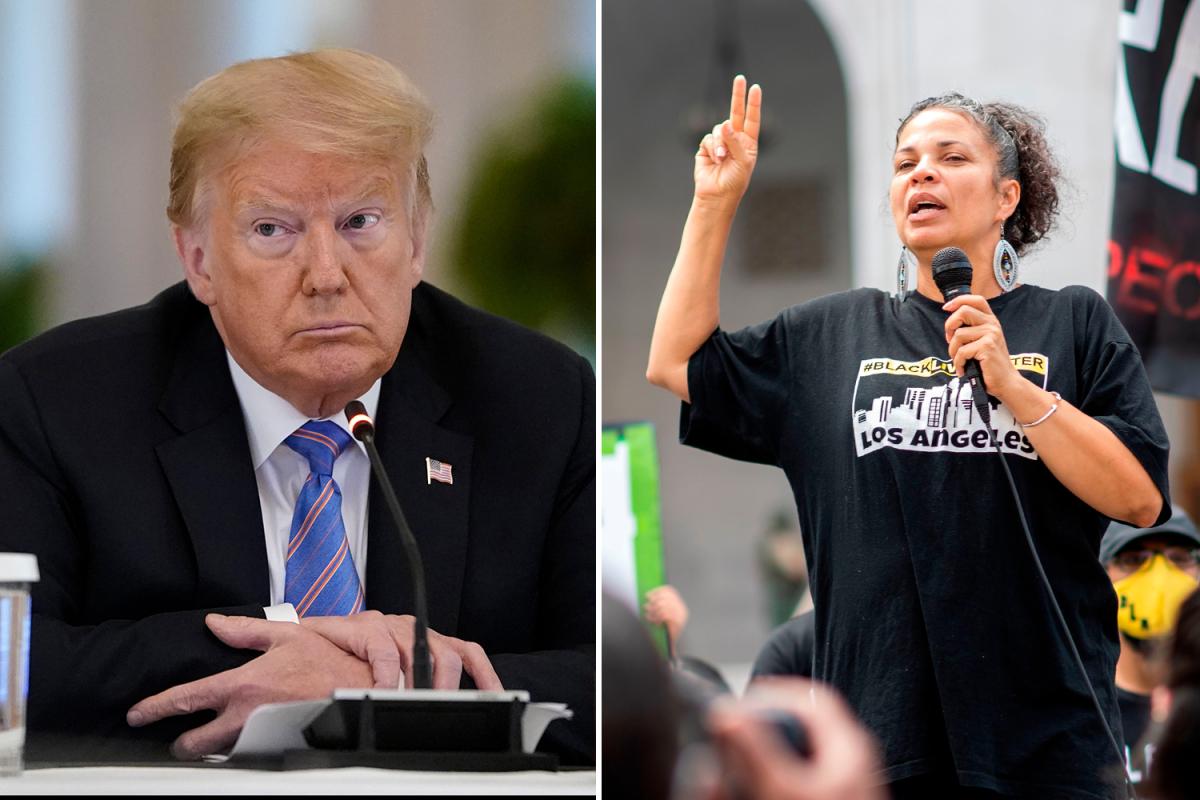 Black Lives Matter founding member calls Trump 'the embodiment of white supremacist terrorism' in shocking attack