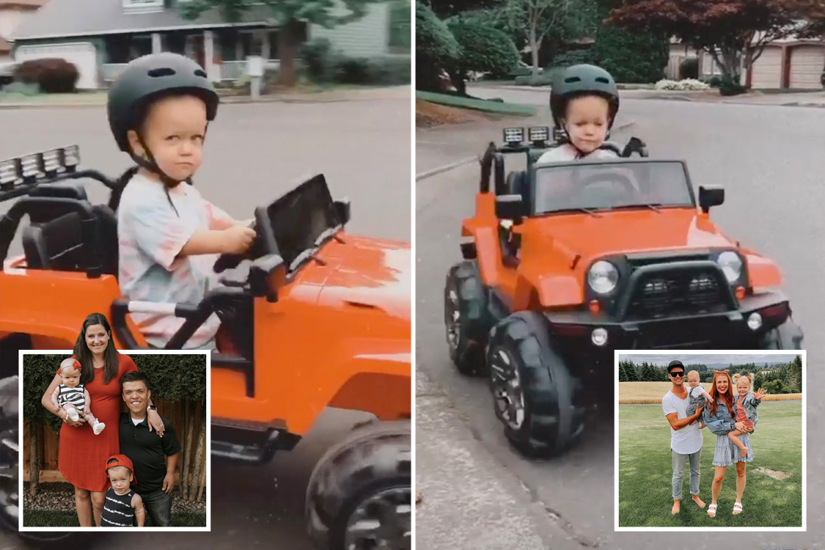 Little People's Tori Roloff shows off son's new electronic car after ditching Jeremy and Audrey's party amid family feud