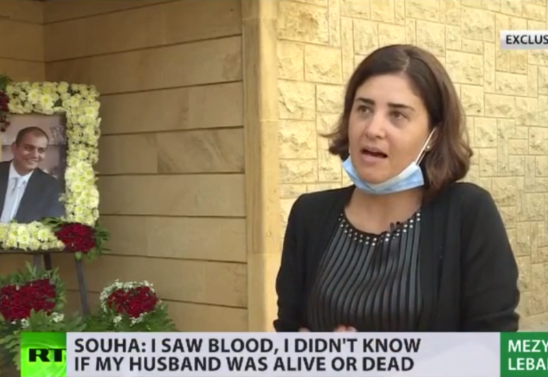 'It's killing me from inside': Girl shares grief with RT as Beirut blast kills her husband in entrance of their gravely in poor health daughter
