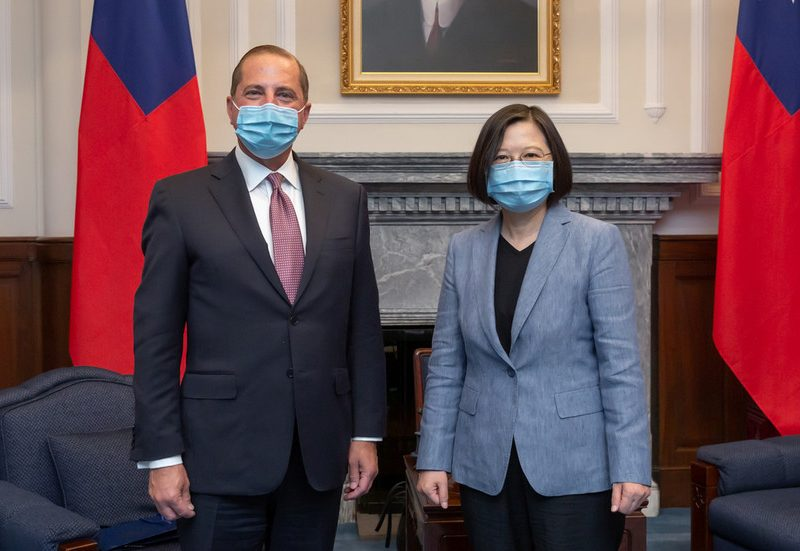 'Those that play with fireplace will get burned': Beijing warns Washington after US well being chief's go to to Taiwan