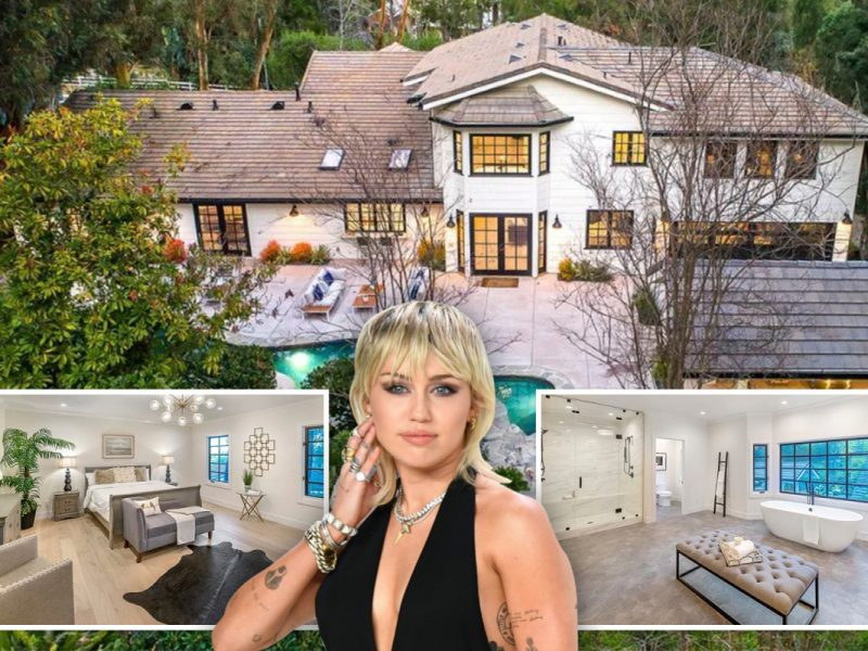 Miley Cyrus' new $5m 'horse pleasant' Hidden Hills mansion that includes a lagoon-inspired pool and patio hearth