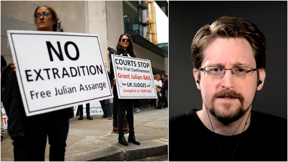 Snowden warns Assange extradition will lead free press to slaughterhouse as publisher's critics blinded by partisanship