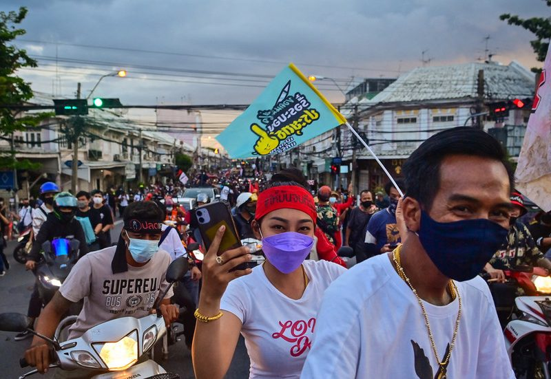 Thai protesters again on the streets demanding resignation of govt and limiting of king's powers