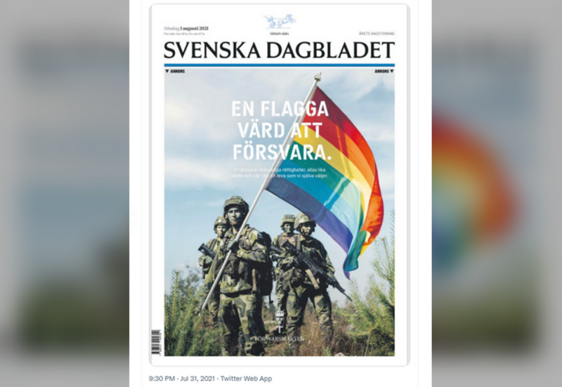 'Flag value defending': Swedish Military locations front-page newspaper advert forward of Stockholm Delight, triggering debate on-line