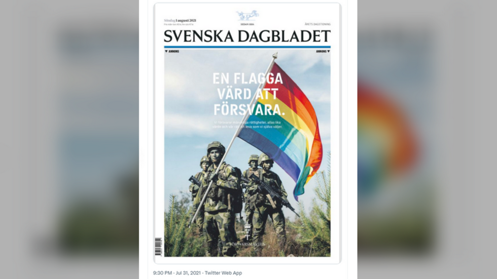 'Flag worth defending': Swedish Army places front-page newspaper ad ahead of Stockholm Pride, triggering debate online