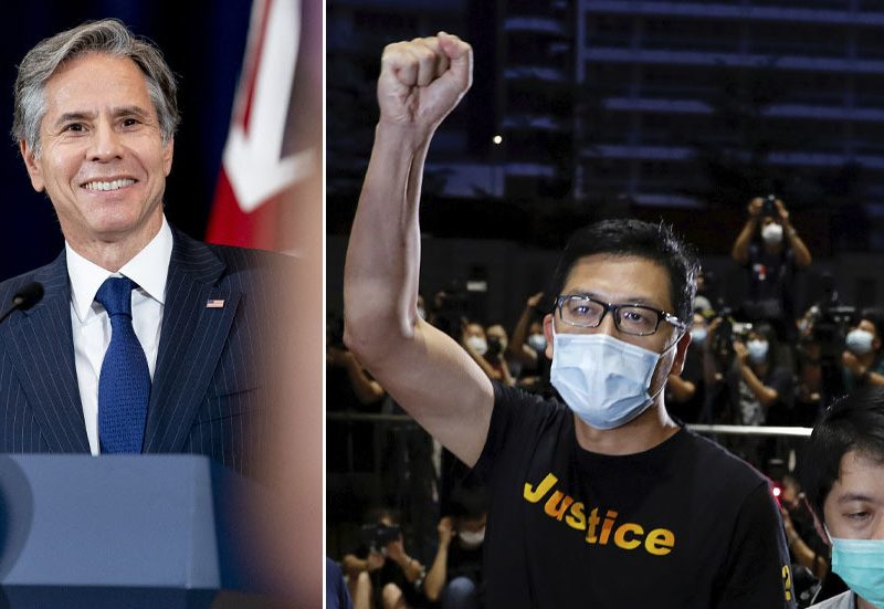 Combined indicators from US as Blinken deletes tweet pledging Washington's help to Hong Kong anti-government protesters